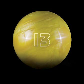Huisbal bowlingbal 13 lbs - Yellow Pearl Glow