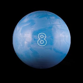 Huisbal bowlingbal  8 lbs - Sky Blue Pearl Glow