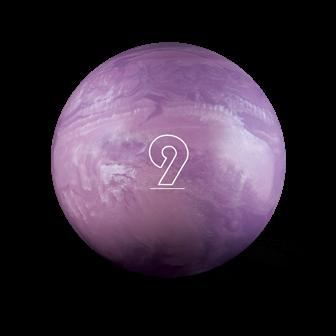 Huisbal bowlingbal  9 lbs - Violet Pearl Glow