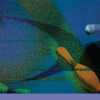Bowling Masking - Blue Splatter